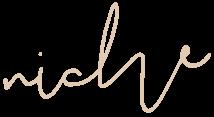 niche (written in script)